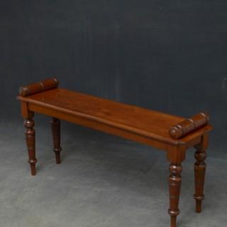 Edwardian Walnut Hall Bench