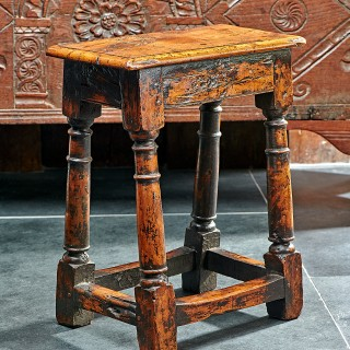 Charles 1st yew wood stool