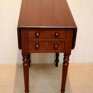 Mahogany Drop Leaf Side Table