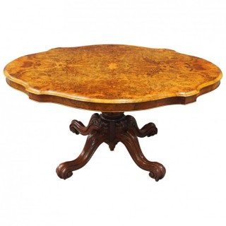 Victorian Burr Walnut Breakfast Table