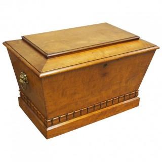 Regency Mahogany Sarcophagus Shaped Wine Cooler