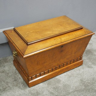 Regency Mahogany Sarcophagus Shaped Wine Cooler