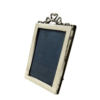 Antique Sterling Silver 'Bow / Ribbon' Photo Frame 1917