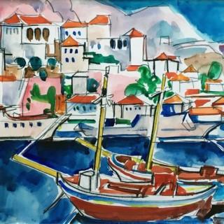 Hydra, Caiques Rouge  by  Jacques Despierre (1912 – 1993)