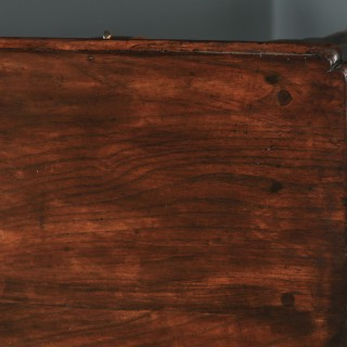 Antique English Georgian Elm Occasional Hall Writing Lowboy Side Table (Circa 1740)