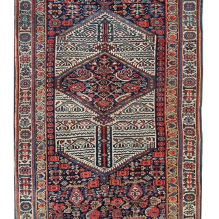 Antique Persian Kurdish Rug 131 x 253 cm
