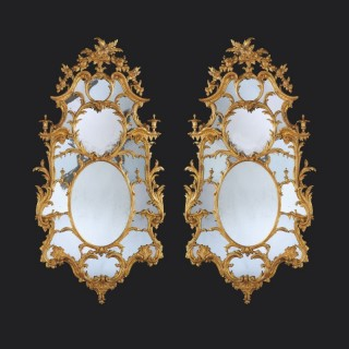 A Pair of George III Mirrors Attributed to John Linnell