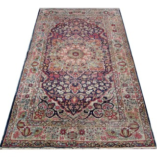 Elegant Antique Persian Kashan Rug 126x230cm