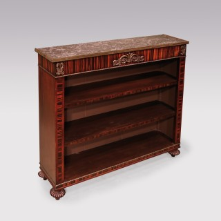 A Regency period coromandel open bookcase