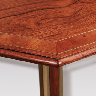 A Regency period rosewood octagonal tripod table