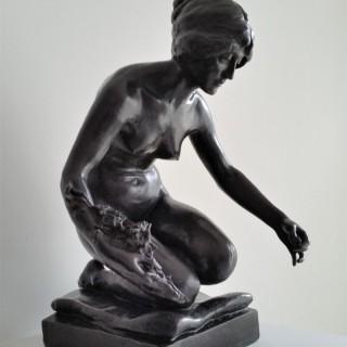 Albert Toft (1862-1949)  Spring 1897 bronze