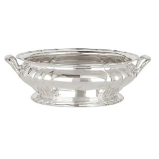 Large German silver bowl, fully hallmarked