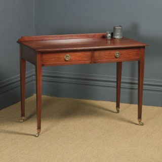 Antique English Victorian Regency Style Mahogany Occasional Hall / Side Table, by Maple & Co. (Circa 1890)