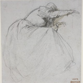 Grief - drawing by Clement Auguste Andrieux