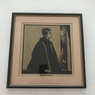Nicholson Woodcut Eleonora Duce