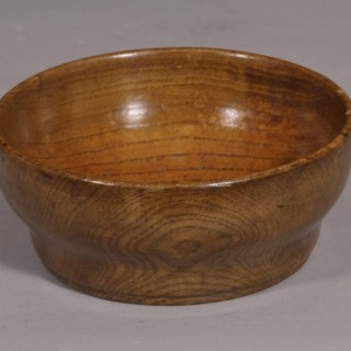 Antique Treen 19th Century Ash Broth Bowl