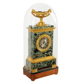 French Empire Marble & Ormolu Clock