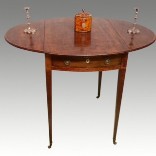 18th century Hepplewhite mahogany oval pembroke table.