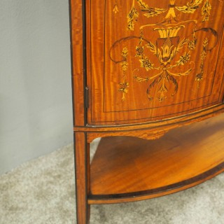 Victorian Satinwood Corner Cabinet on Stand