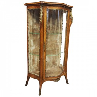 French Rosewood Vitrine by Thomas Justice & Sons