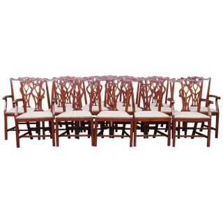 Set of 16 Georgian Style Mahogany Dining Chairs