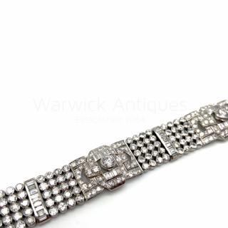 Diamond Bracelet with Baguette Diamonds