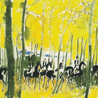 Cavalcade jaune  by André Brasilier (b.1929)
