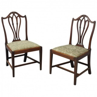 Pair of George III Mahogany Dining Chairs