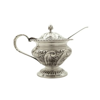 Antique Sterling Silver Mustard Pot 1941