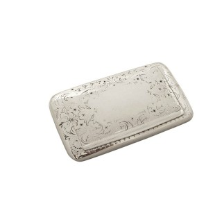 Antique Victorian Sterling Silver Snuff Box 1872