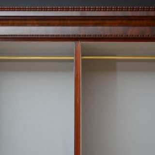 Large Victorian Mahogany 2 Door Wardrobe