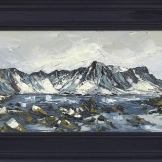 'Winter Cwm Idwal' by Welsh artist Martin Llewellyn