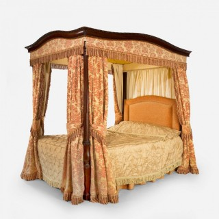 Early 20th Century Mahogany Framed Four Poster Bed