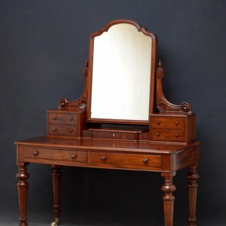 Superb Victorian Figured Mahogany Dressing Table