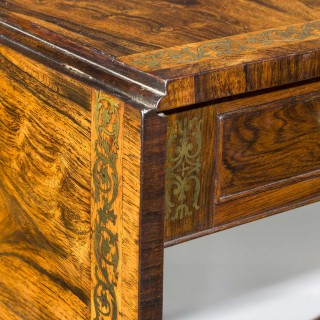 Regency Period Rosewood Sofa Table with Lyre End Supports