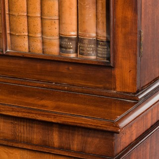 Regency Period Mahogany Bookcase with Gothic Tracery