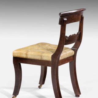 Set of Twelve Regency Period Mahogany Dining/Library Chairs