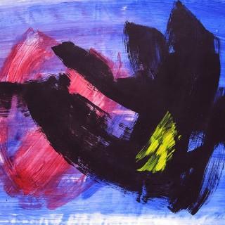 Composition by  Gérard Schneider (1896 – 1986)