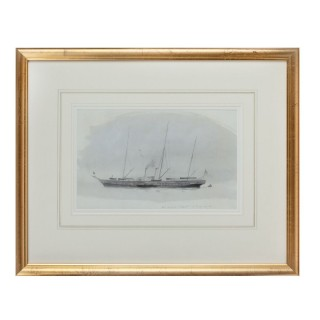 'Victoria and Albert a lovely vessel' Watercolour of the Royal yacht by Harold Wyllie