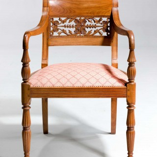 Set of Four Regency Period Elbow Chairs