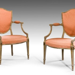 Set of Four George III Period Armchairs