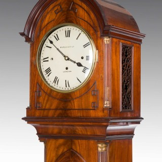 Late 19th Century Mahogany Longcase Clock by Maple and Co