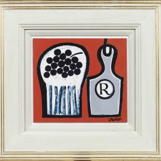 'Grapes and Bottle' by Scottish artist Simon Laurie