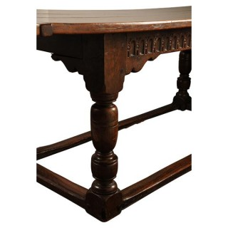 Oak refectory table, English, Charles II circa 1660