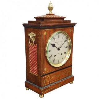 William IV Style Mantel Clock by Herbert Blockley, London