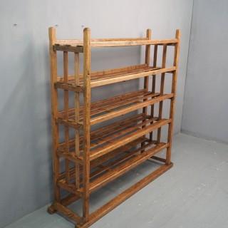 Victorian Industrial Pine Deed Rack / Wool Rack