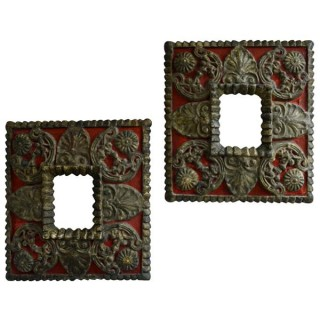 Pair painted carved frames, Spain, late 17th century