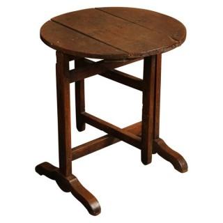 Rustic oak folding or coaching table, French circa 1780