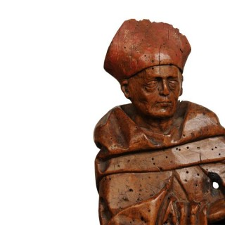Two Fruitwood carvings of Bishops, Switzerland, 16th century