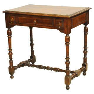 Small walnut sidetable, French, circa 1700